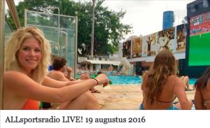 Radio-uitzending ALLsportsradio 19 aug 2016