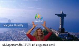 Radio-uitzending ALLsportsradio 26 aug 2016